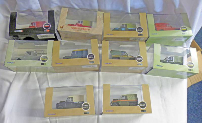 """SELECTION OF OXFORD DIECAST 1:43 SCALE MODEL LAND ROVER INCLUDING SERIES 1 109"""" SERIES 1 HOWDENS"""
