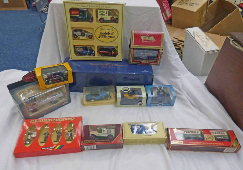 VARIOUS MODEL VEHICLES FROM CORGI, BRITAINS, OXFORD DIECAST,