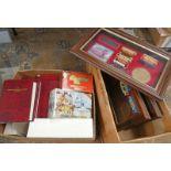 SELECTION OF MATCHBOX MODELS OF YESTERYEAR VEHICLES & 3 FRAMED MODEL VEHICLE SETS
