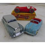 DINKY TOYS 232 - ALFA ROMEO RACING CAR TOGETHER WITH 150 - ROLLS ROYCE SILVER WRAITH AND LOOSE -