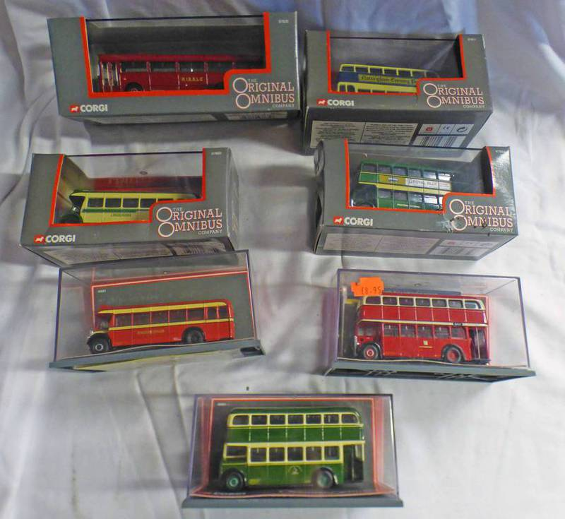SELECTION OF CORGI OMNIBUS MODEL VEHICLES INCLUDING MCW ORION (BMMO), CHESTERFIELD,