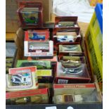 QUANTITY OF VARIOUS MATCHBOX MODELS OF YESTERYEAR & LLEDO MODEL VEHICLES INCLUDING CARS, BUSES,
