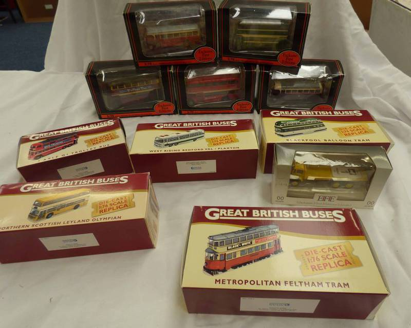 SELECTION OF EFE & ATLAS EDITIONS MODEL BUSES INCLUDING LEYLAND TS8 TIGER TYPE B, DONCASTER,