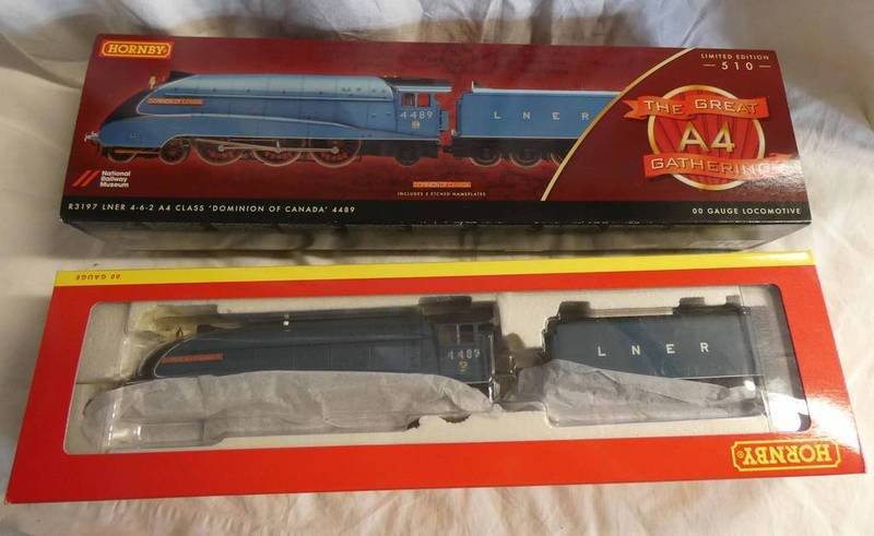 HORNBY R3197 00 GAUGE LNER 4-6-2 A4 CLASS 'DOMINION OF CANADA' 4489 LIMITED EDITION STEAM