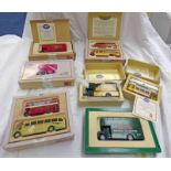 SELECTION OF CORGI CLASSIC MODEL VEHICLE SETS INCLUDING 97269- DOUBLE DECKER TRAM PLYMOUTH,