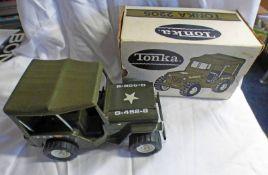 TONKA TOY 2205 - U.S. ARMY JEEP.