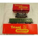 TWO TRIANG OO-HO GAUGE LOCOMOTIVES INCLUDING R157 - DIESEL POWER CAR TOGETHER WITH R52-0-6-0 BR