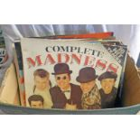 SELECTION OF VARIOUS VINYL MUSIC ALBUMS & SINGLES INCLUDING ARTIST SUCH AS MADNESS, PET SHOP BOYS,