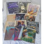 SELECTION OF VARIOUS VINYL MUSIC ALBUMS INCLUDING ARTIST SUCH AS BLACK SABBATH, BOB DYLAN,