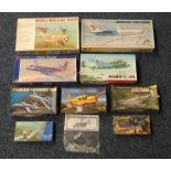 SELECTION OF UNMADE PLASTIC MODEL KITS FROM HELLER, WILLIAMS BROS,