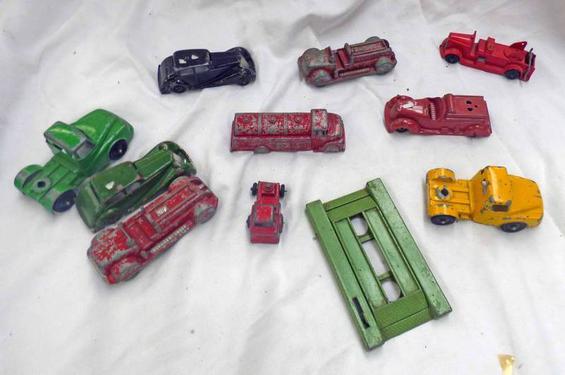SELECTION OF PLAYWORN MODEL VEHICLES FROM CRESCENT MARKX, LONESTAR ETC INCLUDING TRUCKS, CARS,