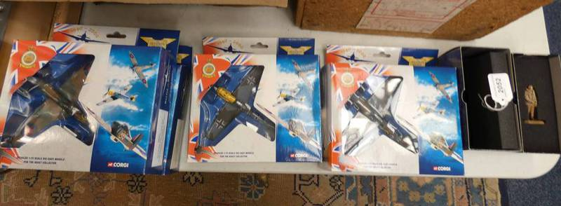 SELECTION OF CORGI TOYS MODEL AIRCRAFT FROM THE AVIATION ARCHIVE RANGE INCLUDING 2 X 49001-SPITFIRE