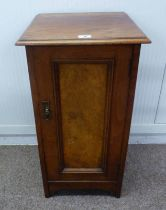 LATE 19TH CENTURY MAHOGANY BEDSIDE SINGLE DOOR CABINET