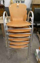 SET OF 6 STACKABLE CHAIRS