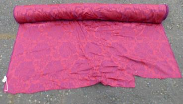 ROLL OF MAROON MATERIAL - WIDTH 137 CMS