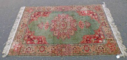 EASTERN RUG WITH GREEN AND RED DECORATION - 185 X 122 CMS