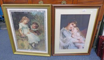 PAIR OF FRAMED PRINTS OF PORTRAITS OF A YOUNG GIRL - 40 X 55 CM