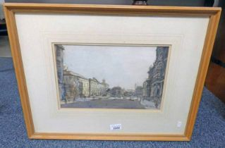 A P NEILSON THE REGISTER HOUSE SIGNED FRAMED WATERCOLOUR 21 X 33 CM