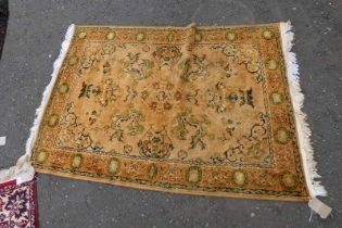 EASTERN RUG WITH FAWN DECORATION,