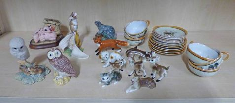 LOT WITHDRAWN - SELECTION OF VARIOUS PORCELAIN TO INCLUDE BESWICK FOX,