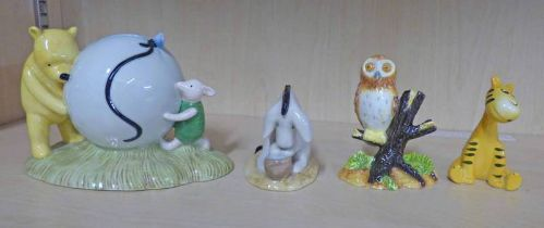 """ROYAL DOULTON WINNIE THE POOH FIGURES TO INCLUDE """"POOH'S BLUE BALLOON"""" AND """"EEYORE'S BIRTHDAY"""""""