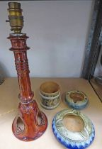 DOULTON CANDLESTICK CONVERTED INTO A LAMP - 37.