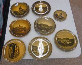 8 PIECES RIDGWAYS PORCELAIN DECORATED WITH SCOTTISH SCENES