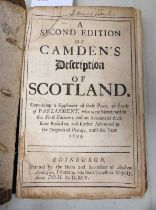 A SECOND EDITION OF CAMDEN'S DESCRIPTION OF SCOTLAND, CONTAINING A SUPPLEMENT OF THESE PEERS,