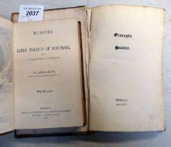 MEMOIRS OF JAMES, MARQUIS OF MONTROSE, K. G.