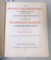 THE READES OF BLACKWOOD HILL IN THE PARISH OF HORTON STAFFORDSHIRE,