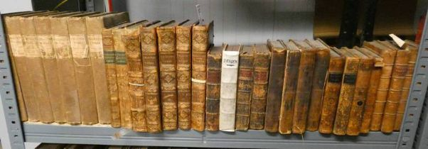 THE WORKS OF LAURENCE STERN, IN 4 FULLY LEATHER BOUND VOLUMES (LACKS VOLUME 3) - 1769,
