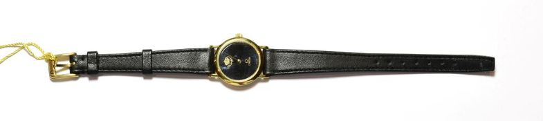 An Omega lady's wristwatch, by repute this was presented by King Hussein of Jordon, with Omega