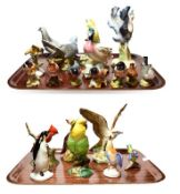Beswick and other bird models, including a Grey Pigeon model number 1383, Cuckoo model number