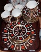 Royal Crown Derby Imari teawares pattern 1128. . Three cups damaged. No other damage or repair. Most