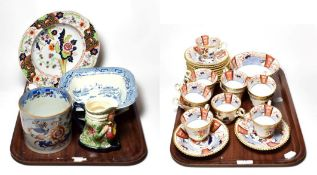 A group of 19th century Spode tea wares and other 19th century ceramics including Spode mug, pattern