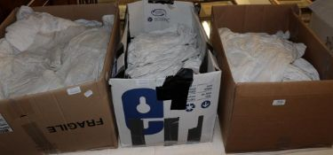 Assorted white cotton undergarments etc (in three boxes)