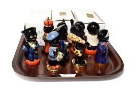 A collection of twelve Carltonware figurines, three with boxes . Good condition.
