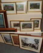 Nine various works of Cheshire interest, antique photograph of Alderly edge, a print of old