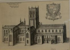 After Daniel King (d.1664) ''The North Prospect of the Cathedral of Worcester'' Etching, from