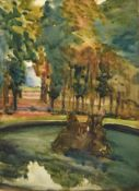Alexander Jamieson (1873-1937) Scottish Fountains, Versailles Watercolour, 35cm by 25.5cm See