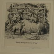 Stanley Anderson (1884-1966) ''Merrily, merrily, we welcome the Year'' Signed in pencil and numbered