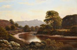Thomas Spinks (fl.1872-1907) On the Wye Monmouth Signed and dated 1874. oil on canvas, 49.5cm by75cm