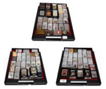 ~ A collection of Zippo lighters including advertising examples (3 trays)