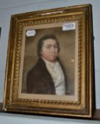 Follower of Joseph Highmore (19th century) Portrait of a gentleman, head and shoulder, wearing a