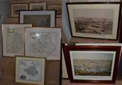 After Robert Morden ''Northumberland'' & ''Durham'', coloured maps, together with a further modern