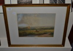 Attributed to David Cox RWS (1783-1859), Haymaking in an extensive landscape, bears signature,