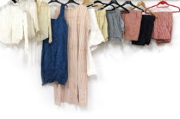 Assorted Late 19th/Early 20th Century Ladies' Undergarments and Shirts, comprising three Edwardian