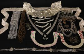 Assorted Mainly Early 20th Century Trims and Accessories for Costume, comprising lengths of bead