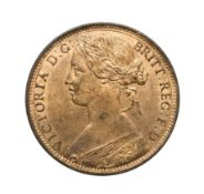 Victoria, 1863 Penny. ''Bun head'' type. Obv: 6, Laureate and draped bust left, hair tied in a