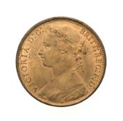 Victoria, 1876 H Penny. Heaton mint, Birmingham, ''bun head'' type. Obv:8, laureate and draped